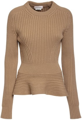 Alexander McQueen Wool & Cashmere Rib Knit Sweater