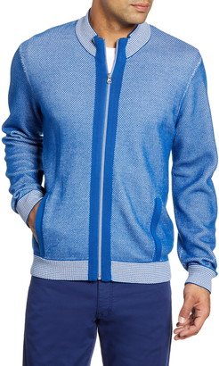 Robert Graham Conboy Regular Fit Zip Sweater
