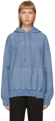 Awake NY Blue Embroidered Logo Hoodie