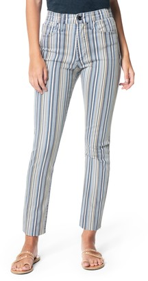 Joe's Jeans The Luna Stripe High Waist Straight Leg Jeans