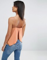 Asos Crepe Wrap Back Cami Top