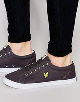 Lyle & Scott Halket Plimsolls In Canvas
