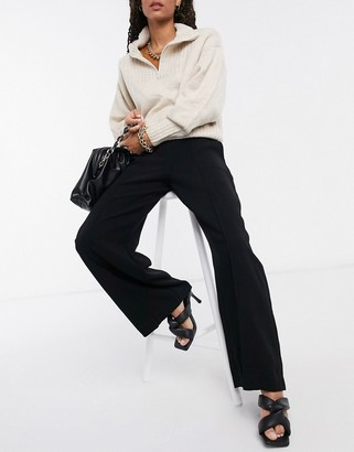 Closet London high waist tailored trousers in black