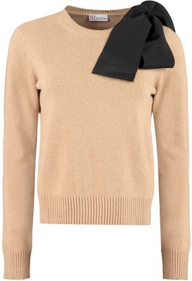 RED Valentino Bow Detail Crew-neck Sweater