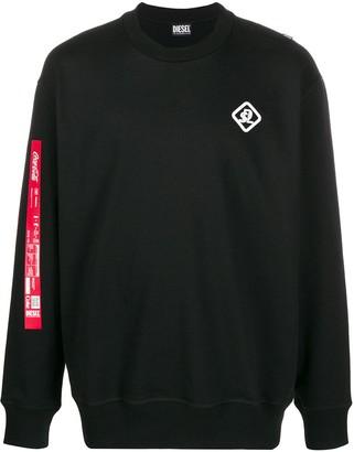 Diesel Recycled Fabric Logo Sweatshirt