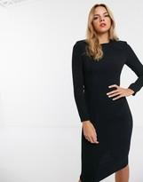 Asos Design DESIGN long sleeve midi dress with seams