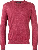 Ermenegildo Zegna slub knit v-neck sweater - men - Cashmere/Silk/Linen/Flax - 48