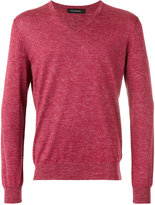 Ermenegildo Zegna slub knit v-neck sweater