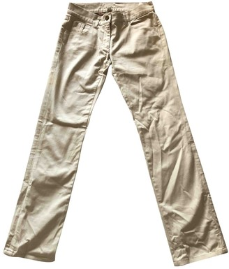 Burberry Beige Cloth Trousers for Women