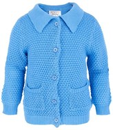 Rachel Riley Blue Collared Cotton Cardigan