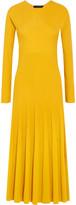 Cédric Charlier Ribbed-knit Midi Dress - Marigold