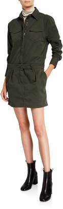 Brunello Cucinelli Cotton Zip-Front Shirtdress
