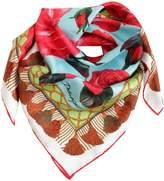 Dolce & Gabbana Roses Printed Silk Satin Scarf