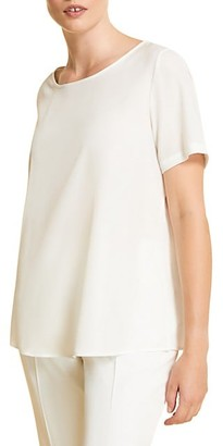 Marina Rinaldi, Plus Size Crepe Polished Shell Top