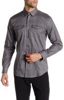 John Varvatos Windowpane Slim Fit Shirt