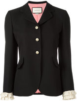 Gucci ruffle detail jacket - women - Silk/Acetate/Wool - 44