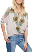 Free People Women's Gotta Love It Embroidered Top