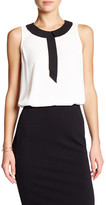 Vince Camuto Sleeveless Neck Tie Blouse