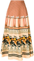 Temperley London Foxglove printed midi skirt - women - Cotton/Viscose - 8