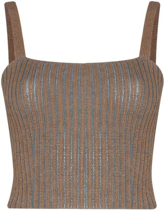 Eckhaus Latta Ribbed-Knit Cropped Vest