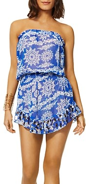Ramy Brook Marcie Printed Swim Cover Up Mini Dress