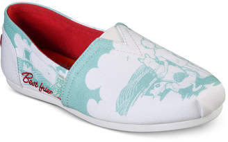 Skechers Women Bobs For Dogs Bobs Plush - Besties Casual Wide Width Slip-On Flats from Finish Line