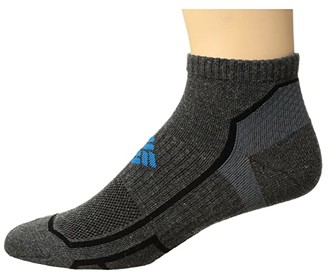 Columbia Trail Running Lightweight Low Cut 1-Pack (Grey) Crew Cut Socks Shoes