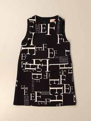 Elisabetta Franchi Short Dress With All Over Logo
