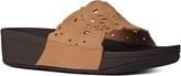 FitFlop Tan Flora Leather Slide - Women