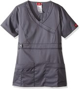 Dickies Women's Fit Youtility Mock Wrap Scrub Top