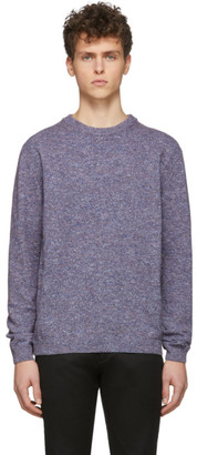 Paul Smith and Burgundy Cotton Linen Marled Sweater