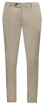 Brunello Cucinelli Slim-leg Cotton-blend Chino Trousers
