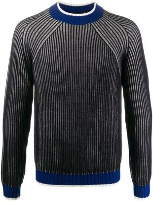Emporio Armani Long Sleeve Contrasting-Trim Jumper