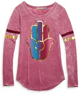Vintage Havana Girls' Foil Hamsa Tee - Sizes S-XL