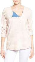 Caslon Stripe Sweatshirt