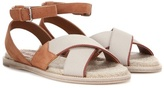 Loro Piana Leukas Suede And Canvas Sandals