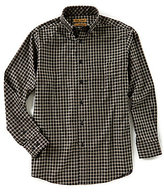 Roundtree & Yorke Gold Label Non-Iron Long-Sleeve Plaid Checked Dobby Sportshirt