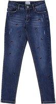Mayoral Crystal Embellished Slim-Fit Stretch Jeans, Size 8-16