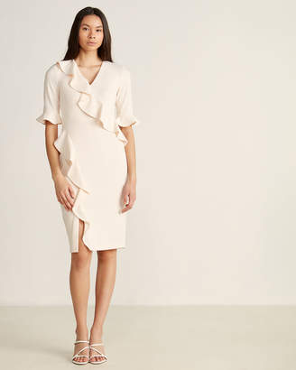 Calvin Klein Blossom Diagonal Ruffle Dress