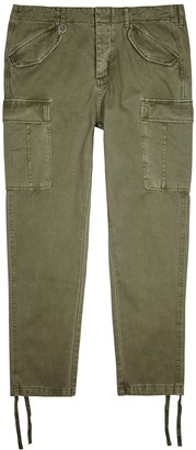 Neuw Kerouac green cotton-twill cargo trousers