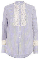 Lover Lace Inset Striped Shirt