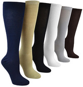 Muk Luks Women's Rayon from Bamboo Under the Knee Socks (6 Pair)