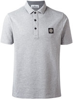 Stone Island logo patch polo shirt - men - Cotton/Elastodiene - XL