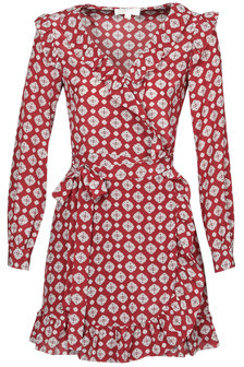 MICHAEL Michael Kors LUX PINDOT WRAP DRS women's Dress in Red