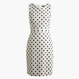 J.Crew Tall sheath dress in polka dot textured tweed
