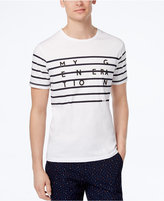 Ben Sherman Men's Slim-Fit Striped Graphic T-Shirt