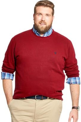 Izod Big & Tall Sportswear Classic-Fit Fleece Crewneck Sweater