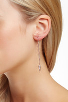 Rebecca Minkoff Pave Triangle Threader Earrings