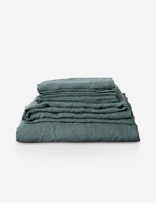 Lulu & Georgia Cultiver Linen Bedding, Bluestone Sheet Set