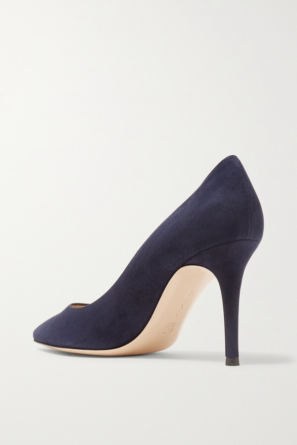 Thumbnail for your product : Gianvito Rossi 85 Leather Pumps - Blue